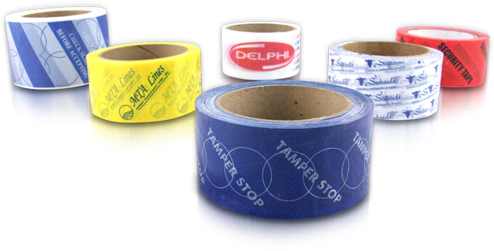 Tamper Stop Security Tape with Custom logos